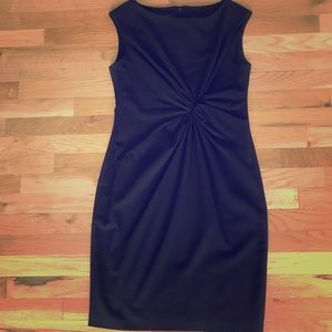 Anne Klein twist front black dress